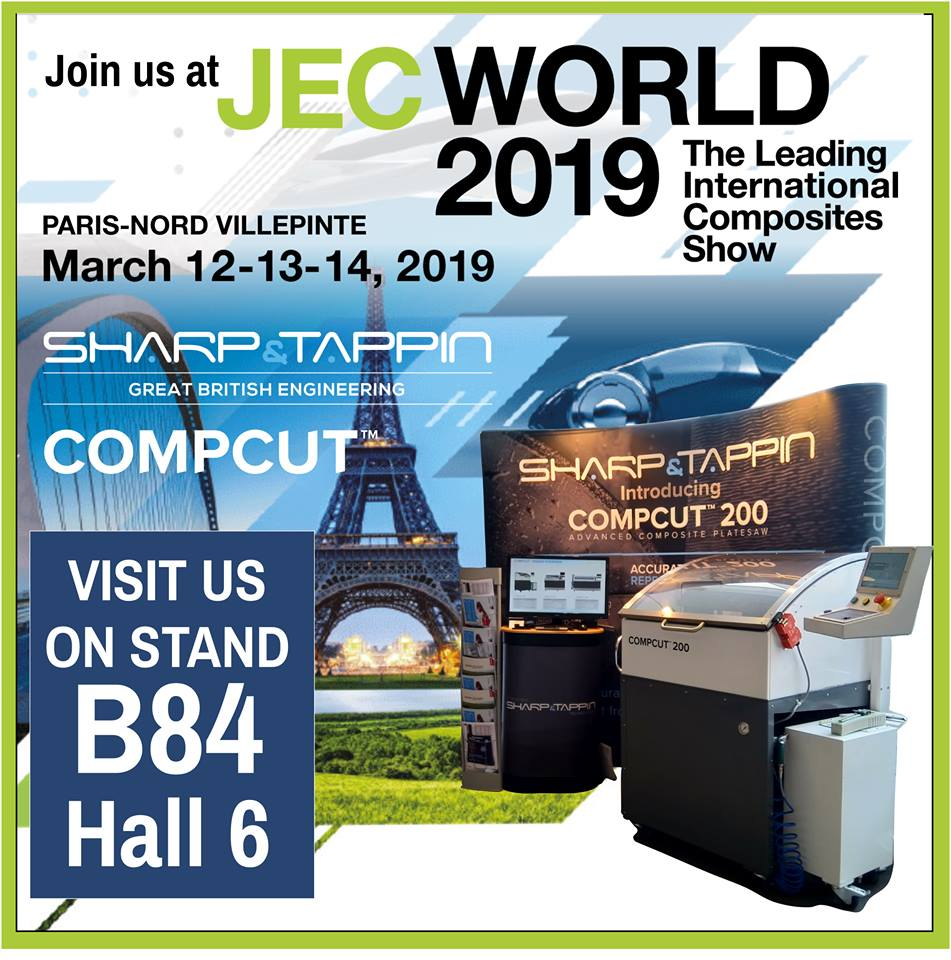 Sharp & Tappin launch Compcut Range in Europe at JEC World